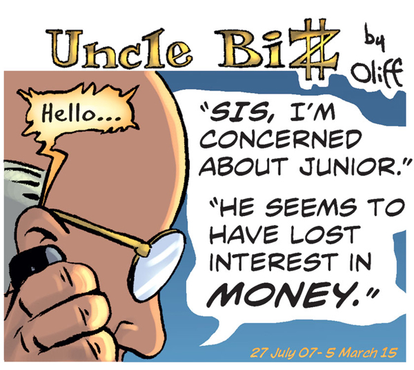 Uncle Biz worries about Junior
