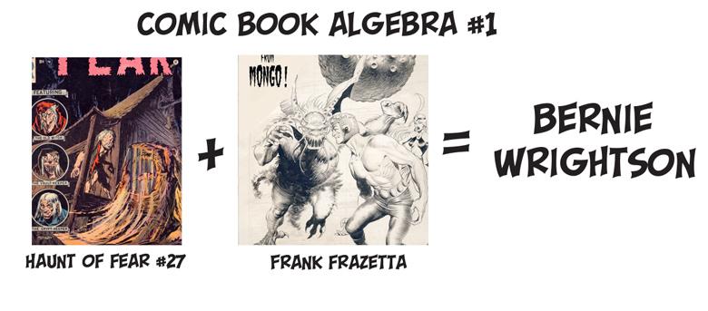 Bernie Wrightson, Frank Frazetta, Comic Book Algebra